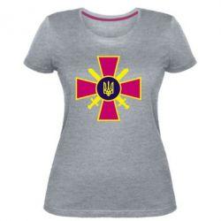 Женская стрейчевая футболка Військо України