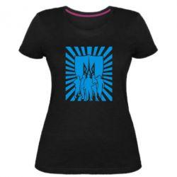 Женская стрейчевая футболка Військо українське - FatLine
