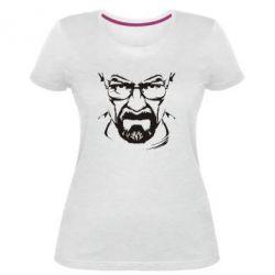 Женская стрейчевая футболка Во все тяжкие (Уолтер) - FatLine