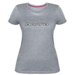 Женская стрейчевая футболка Волга