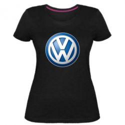 Жіноча стрейчева футболка Volkswagen 3D Logo