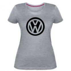 Женская стрейчевая футболка Volkswagen - FatLine