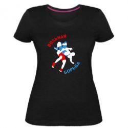 Жіноча стрейчева футболка Вільна боротьба - FatLine