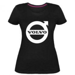 Женская стрейчевая футболка Volvo