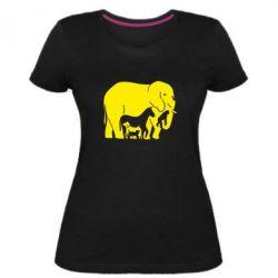 Женская стрейчевая футболка все в одном