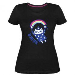 Жіноча стрейчева футболка Вжух!