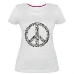 Жіноча стрейчева футболка War Peace