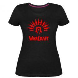 Женская стрейчевая футболка WarCraft Logo