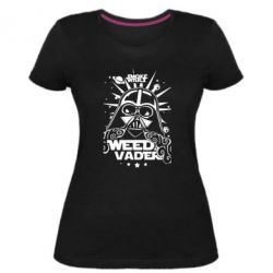 Женская стрейчевая футболка Weed Vader