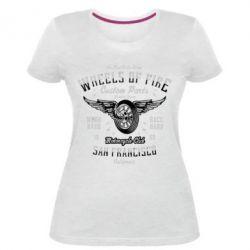 Жіноча стрейчева футболка Wheels Of Fire