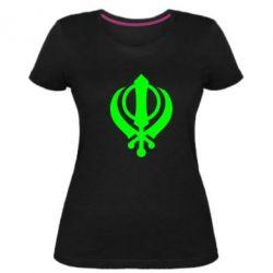 Женская стрейчевая футболка White Khanda