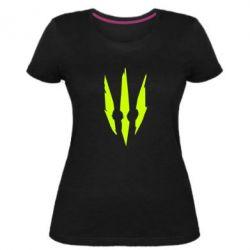 Женская стрейчевая футболка Wiedzmin logo