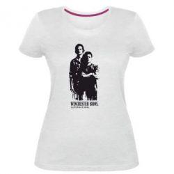 Женская стрейчевая футболка Winchester Bros - FatLine