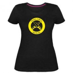 Жіноча стрейчева футболка Wing Chun kung fu