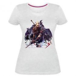 Купить Женская стрейчевая футболка Witcher and the Wolves, FatLine