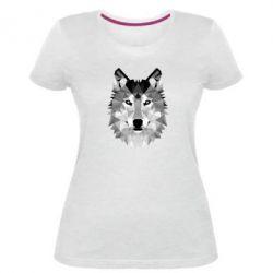 Жіноча стрейчева футболка Wolf Art