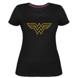 Женская стрейчевая футболка Wonder Woman Logo