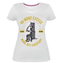 Жіноча стрейчева футболка Work Out Everyday