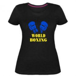 Женская стрейчевая футболка World Boxing