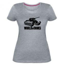Жіноча стрейчева футболка World Of Tanks Game