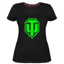 Женская стрейчевая футболка WOT Logo