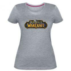 Женская стрейчевая футболка Wow Logo