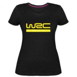 Женская стрейчевая футболка WRC - FatLine