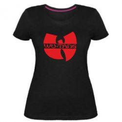 Женская стрейчевая футболка WU-TANG - FatLine