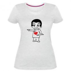 Жіноча стрейчева футболка Я люблю її