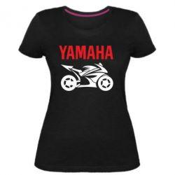 Жіноча стрейчева футболка Yamaha Bike