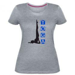 Женская стрейчевая футболка Yoga