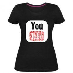Жіноча стрейчева футболка YouTube