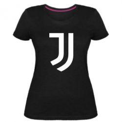 Женская стрейчевая футболка Ювентус