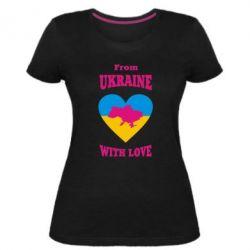 Жіноча стрейчева футболка З України з любов'ю