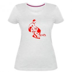Жіноча стрейчева футболка Захоплення в боротьбі