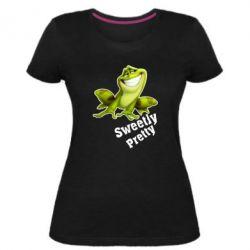 Жіноча стрейчева футболка Жабка - FatLine