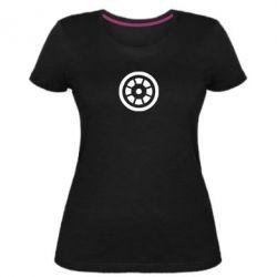 Женская стрейчевая футболка Железный человек - FatLine
