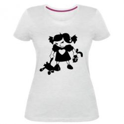 Женская стрейчевая футболка Злюка