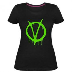 Жіноча стрейчева футболка Знак Вендети