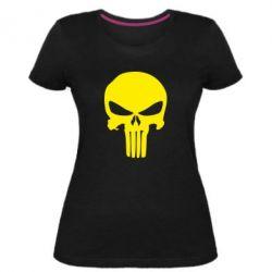Жіноча стрейчева футболка Зубастий череп