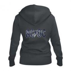 Женская толстовка на молнии AC/DC Logo