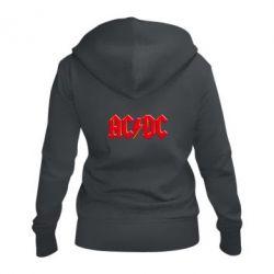 Женская толстовка на молнии AC/DC Red Logo