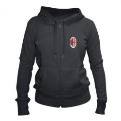 Жіноча толстовка на блискавці AC Milan