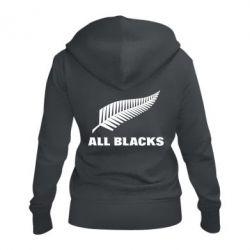 Женская толстовка на молнии All Blacks