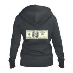 Жіноча толстовка на блискавці Американський Долар