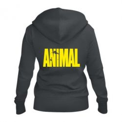 Женская толстовка на молнии Animal Logo