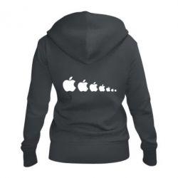 Жіноча толстовка на блискавці Apple Еволюції
