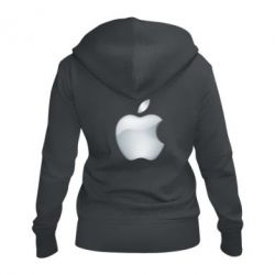 Жіноча толстовка на блискавці Apple Silver