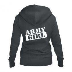 Жіноча толстовка на блискавці Army girl
