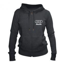 Женская толстовка на молнии Audi Big